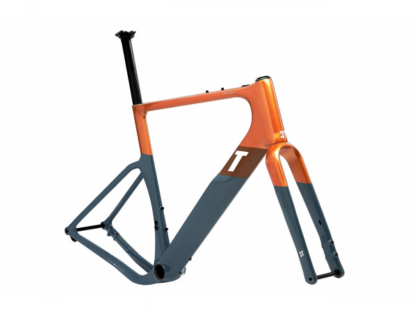 3T EXPLORO RACEMAX FRAMESET Rahmenset orange/grey