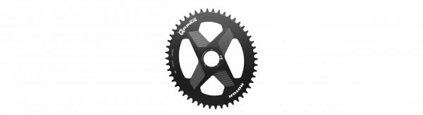 ROTOR Ovales 1x DM Direct Mount Kettenblatt 46Z für 2INpower DM/ INpower DM/ ALDHU/ VEGAST schwarz