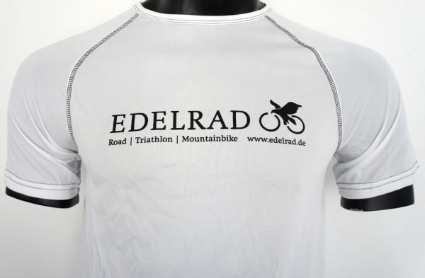 EDELRAD Performance Funktionsshirt T-Shirt Herren - weiss