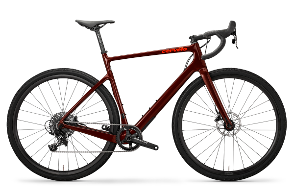 Cervelo Áspero Disc Apex 1 (2020) burgundy / dark orange