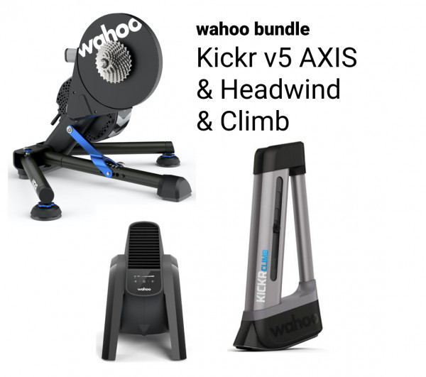 Wahoo KICKR v5 Bundle + HEADWIND + CLIMB (2020/2021)