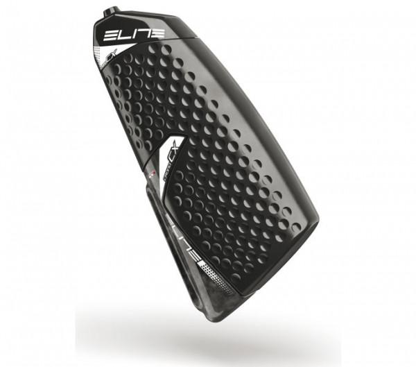 Elite Crono CX Trinklfasche mit CarbonHalter (Aerotrinkflasche)