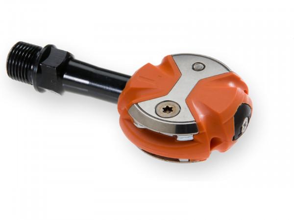 Speedplay Zero Pedalsystem inkl. Walkable Cleats CrMo / orange
