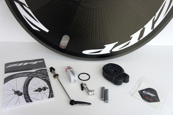 Zipp Super 9 DISC Carbon Clincher Scheibenlaufrad - white - 2018