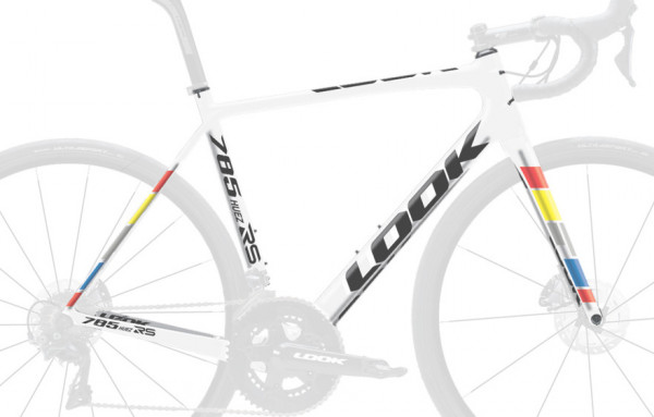 LOOK 785 Huez RS DISC + ZED2 proteam-white (2019) Rahmenset