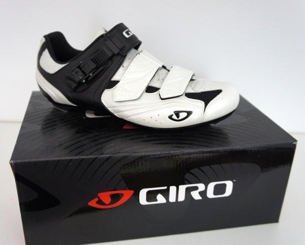 GIRO Apeckx weiss-schwarz - Rennradschuh