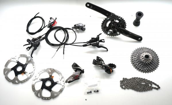 Shimano XTR 2x11 M9000 Komplettgruppe inkl. Scheibenbremsen