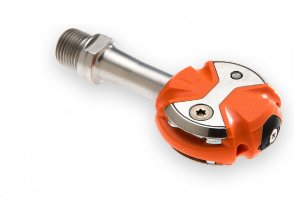 Speedplay Zero Pedalsystem inkl. Walkable Cleats Edelstahl / orange