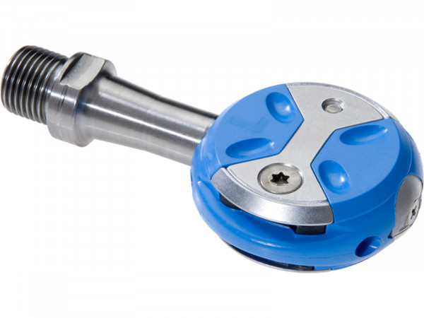 Speedplay Ultra Light Action Pedalsystem inkl. Walkable Cleats Titanium / blau
