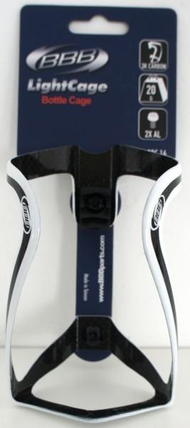 BBB Lightcage Flaschenhalter Carbon - glänzend weiß
