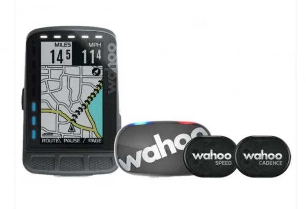Wahoo ELEMNT ROAM GPS-FAHRRADCOMPUTER-SET (Bundle) mit TICKR 2