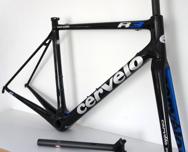 Cervelo R3 Rahmenset schwarz/blau/silber