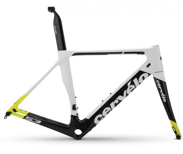 Cervelo S3 Disc white/black/yellow