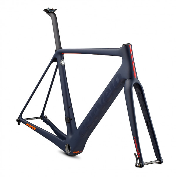 Cervelo R5 Disc Rahmenset 2019 navy/orange/red