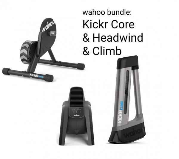 Wahoo Bundle: KICKR CORE & HEADWIND & CLIMB