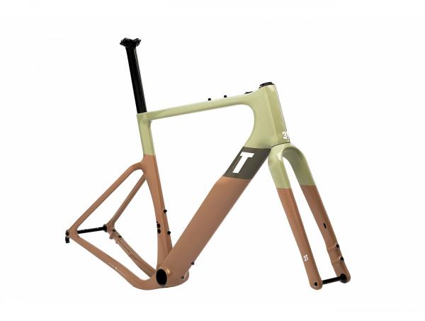 3T EXPLORO RACEMAX FRAMESET Rahmenset sand/olive