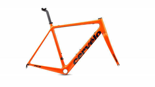 Cervelo R3 rim-brake Rahmenset orange/blue 2020